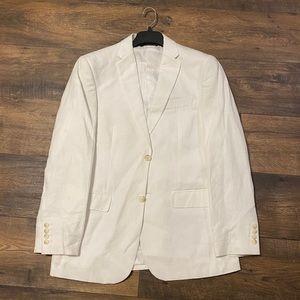 Men's Perry Ellis white linen full suit